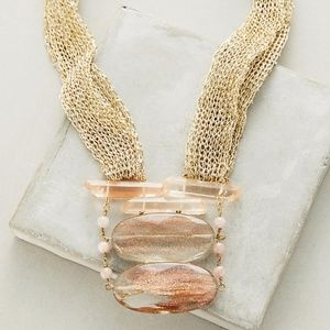Mesh Stone Necklace Anthropologie - NWOT